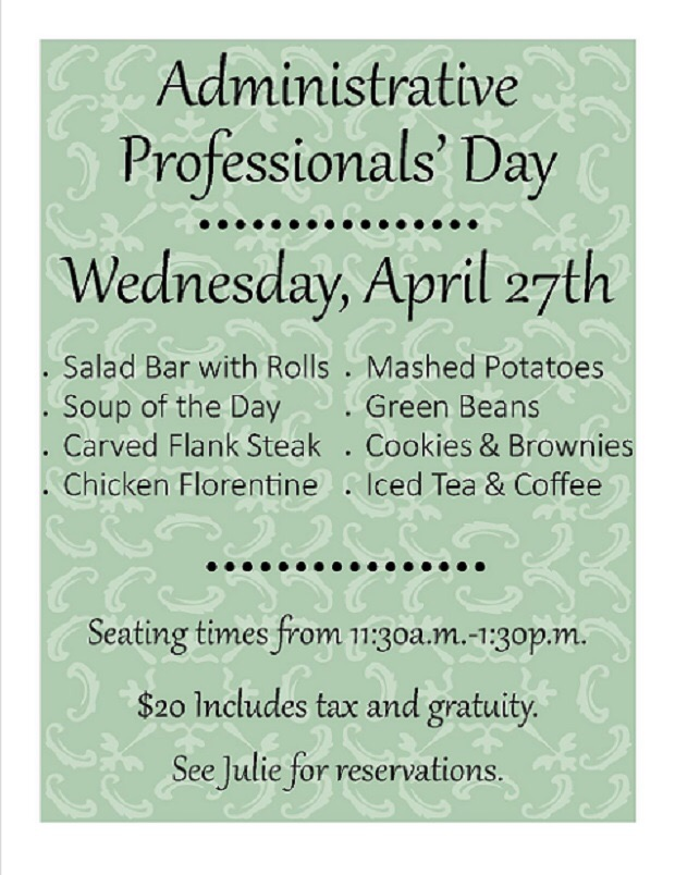 celebrate administrative professionals day with us lone palm golf