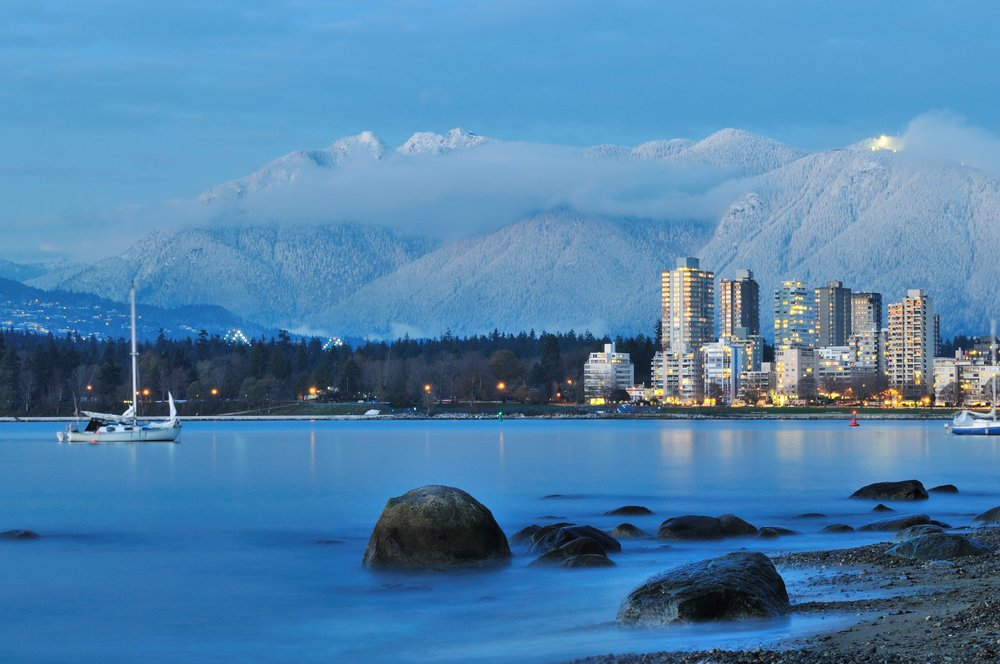The Vancouver, BC skyline.