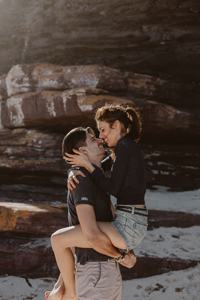 Beach couple shoot in Cape Town