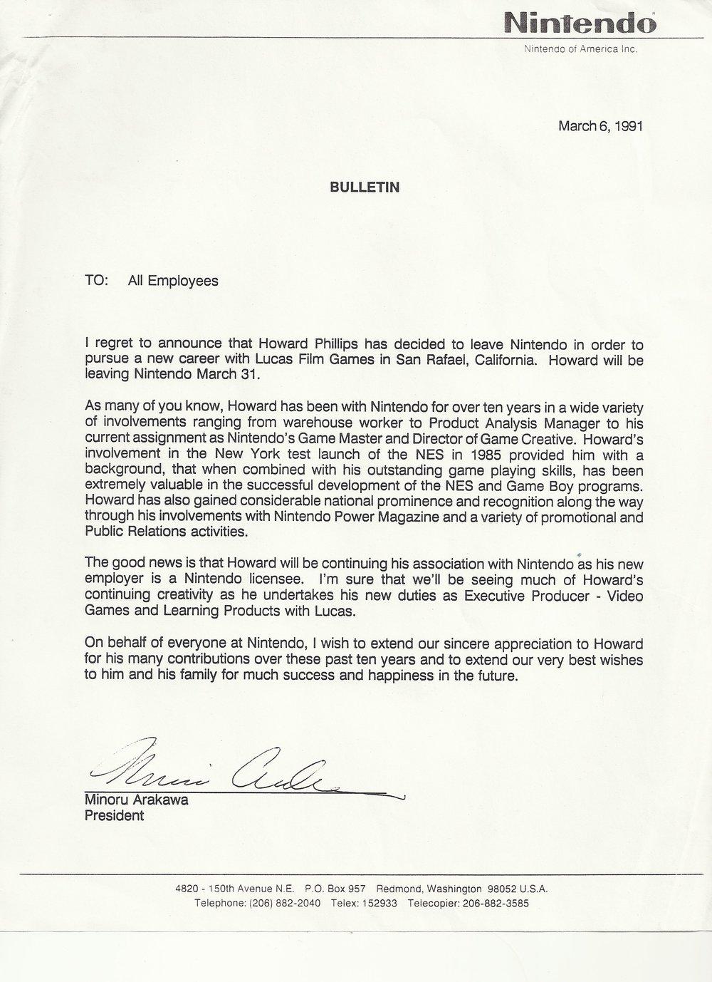 Howard Phillips Exit Letter.JPG