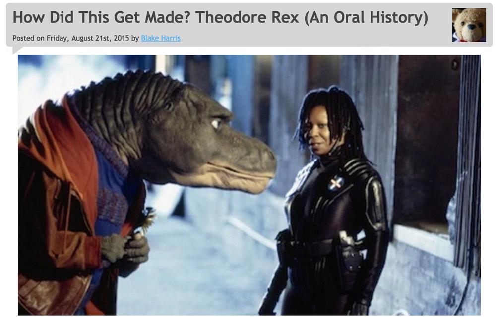 8/21/2015: THEODORE REX