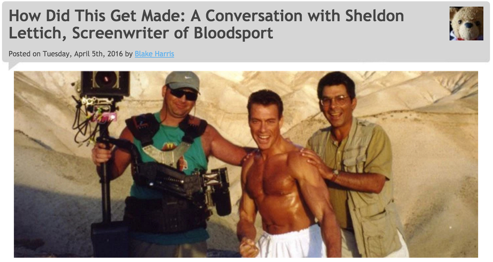 4/5/16: BLOODSPORT (A Conversation with Sheldon Lettich)