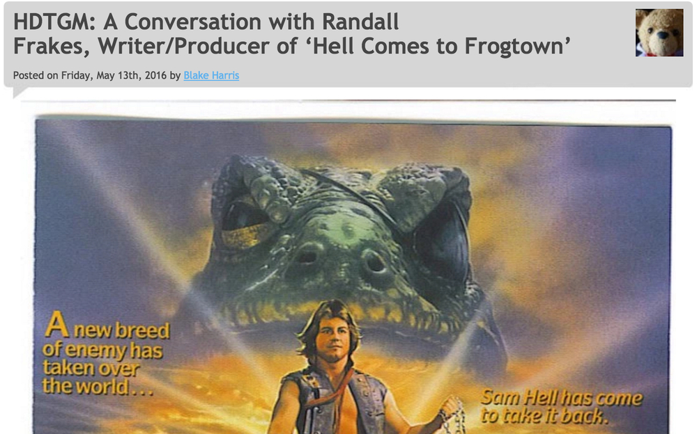 5/13/16: HELL COMES TO FROGTOWN