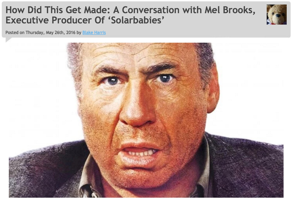 5/26/16: BONUS (A Conversation with Mel Brooks)