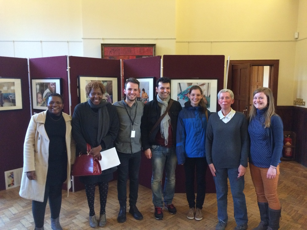After the performance: Mrs Sikhangezile Moyo and   Dr Davidzoyashe Makosa from Bulawayo; myself; Francisco Castiñiera, Lena Dirnberger and Helen Stellner from Regensburg; and Laura Paterson, Aberdeen City Council's Twin City Officer.