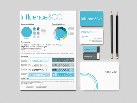 Influence & Co. Branding.