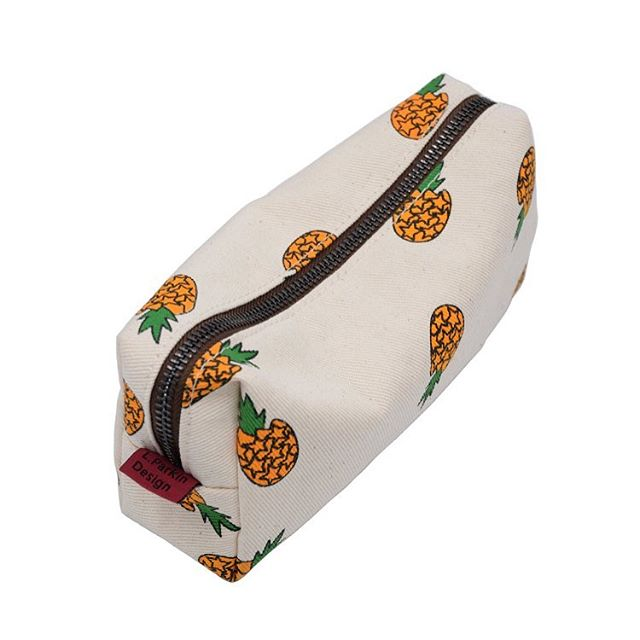 Canvas Pineapple Pencil Case -