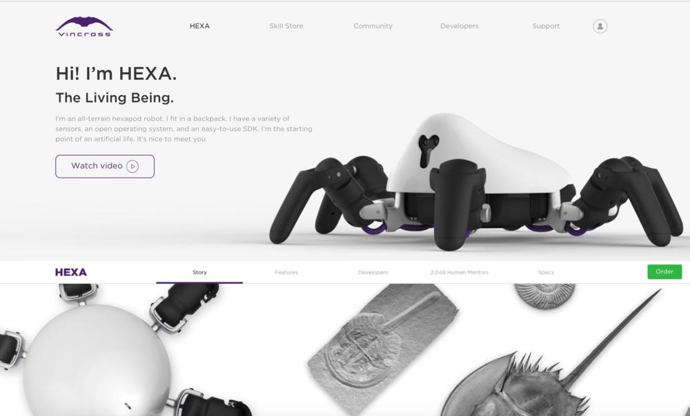 Hexa: Product Website