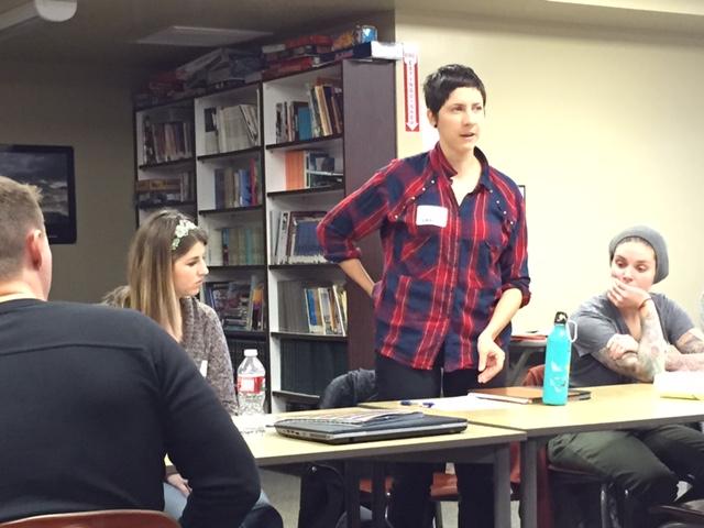 Sara Bernal and Allyson Harvie address the needs of essential skills as teachers listen.
