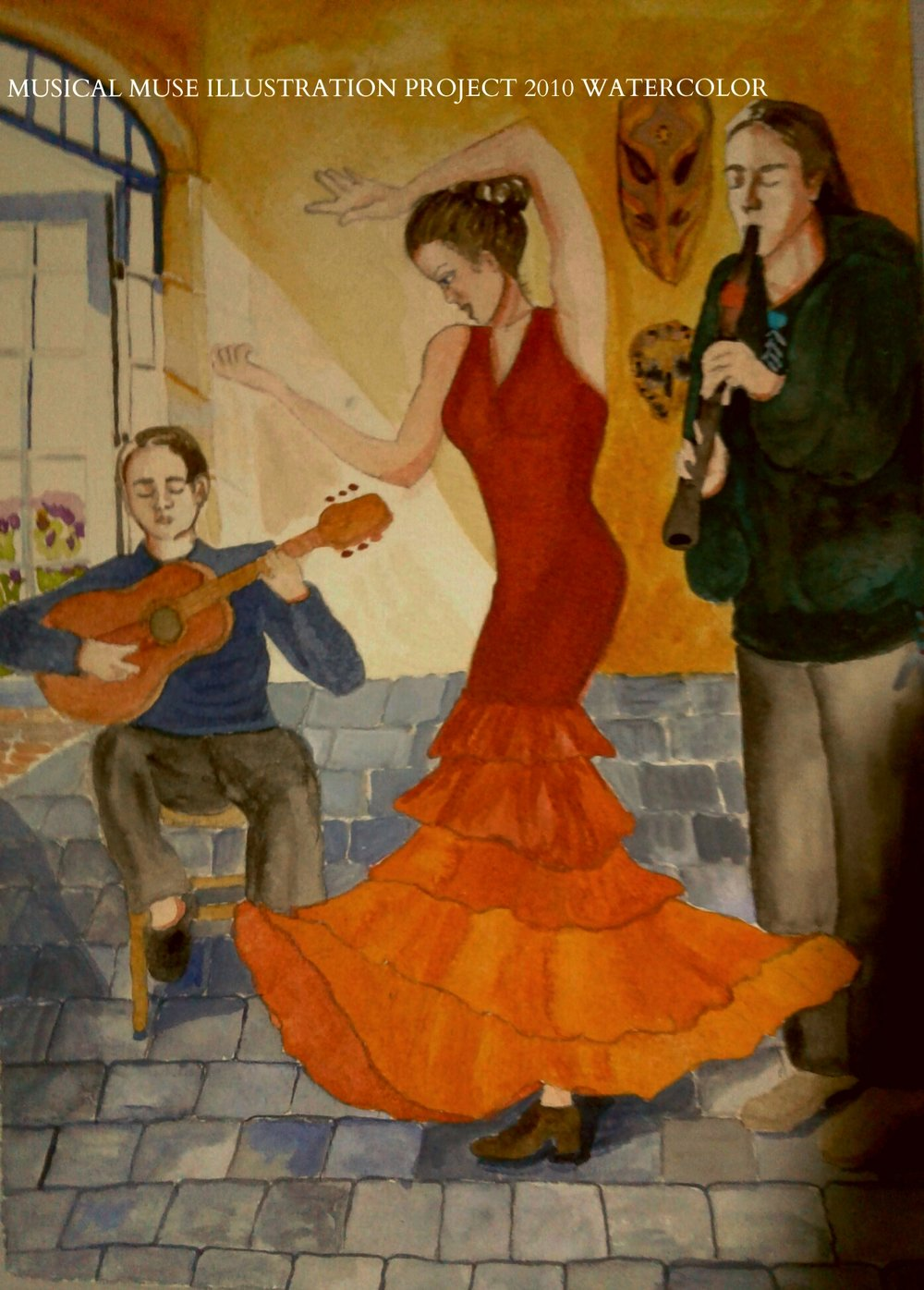 50 WATER COLOR ILLUSTRATIONS FOR A MUSIC THERAPIST  CATHERINE LACOMBE