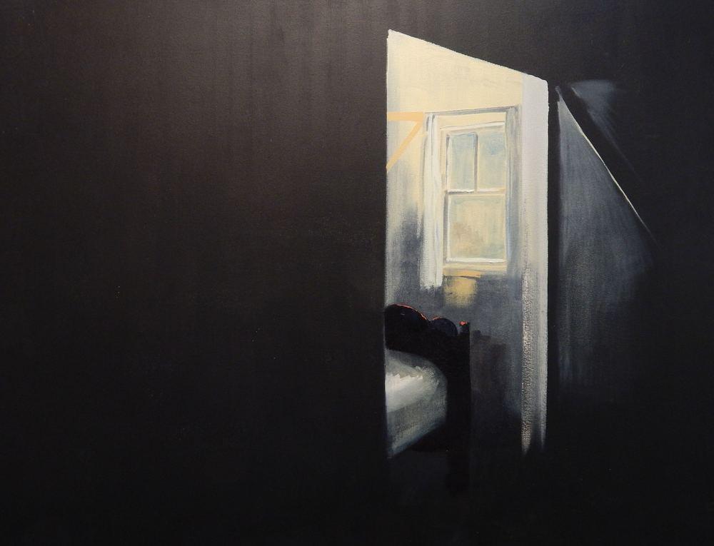 Bedside window. 42''x54'' Oil on Canvas