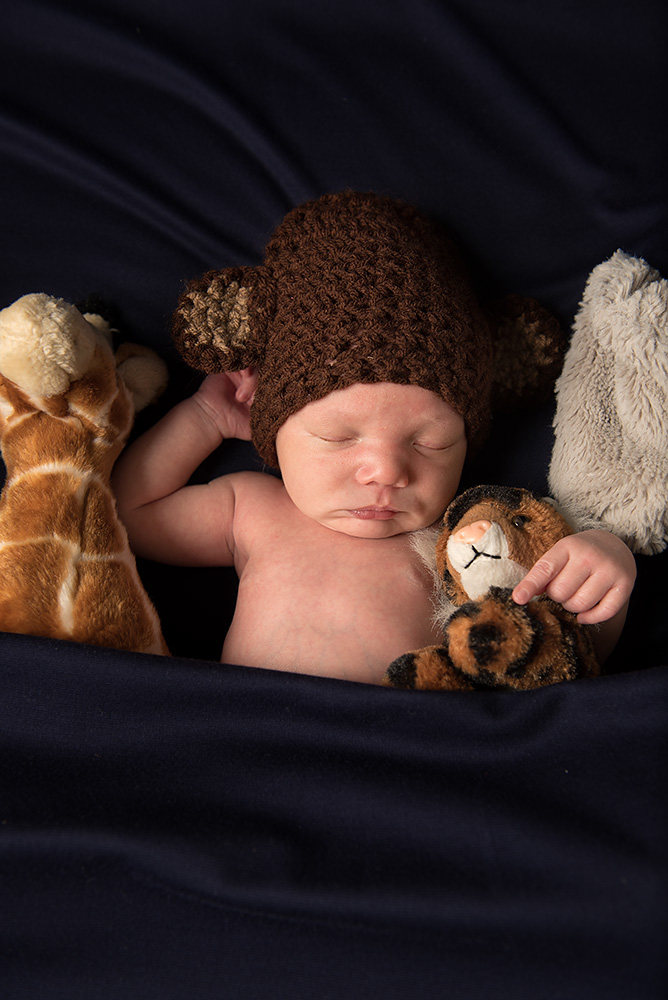 Baby boy with toys - Redding Newborn photographer - Dani D Photography