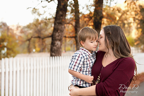 Mother snuggling son - Redding CA Photographer - Dani D Photography
