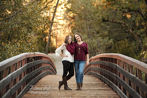 Mother and daughter on a bridge - Redding CA Photographer - Dani D Photography