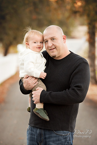 Father snuggles infant son - Redding CA Photographer - Dani D Photography