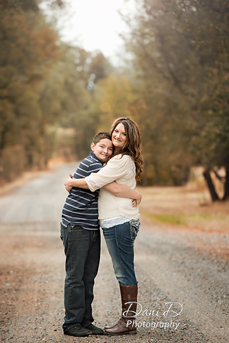 Mother and son portrait - Redding CA Photographer - Dani D Photography