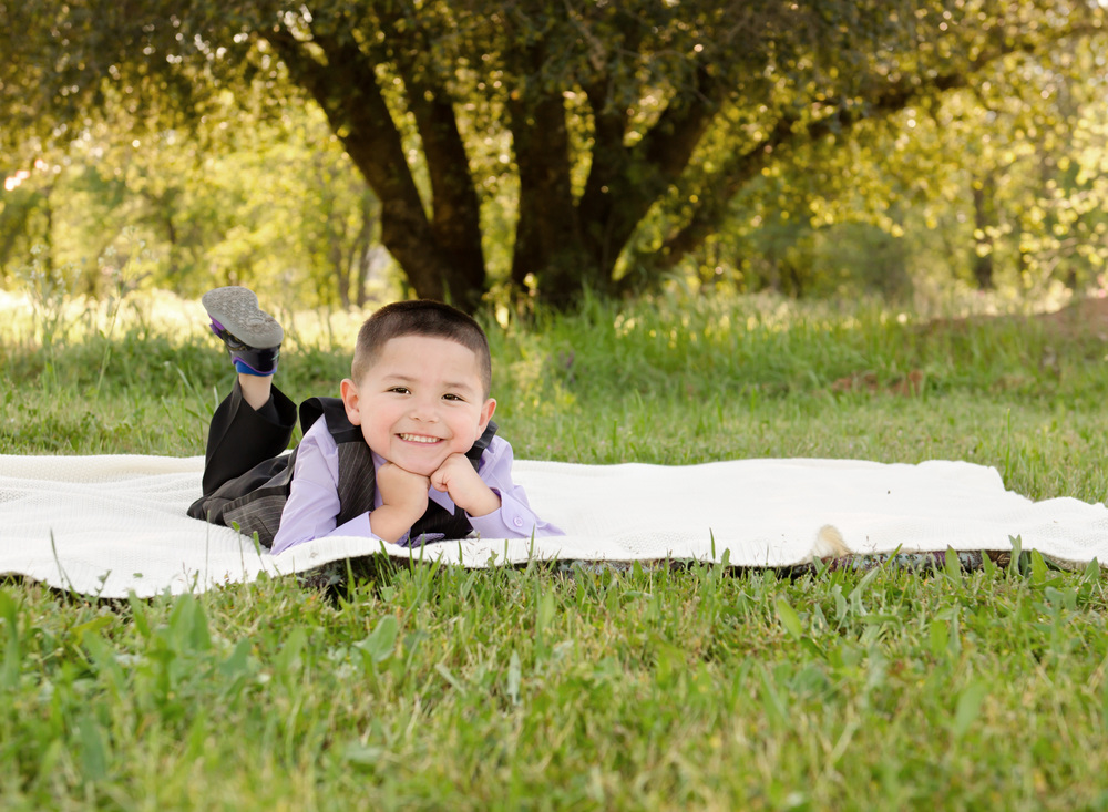 Boy in a field  { Redding CA Photographer - Dani D Photography }