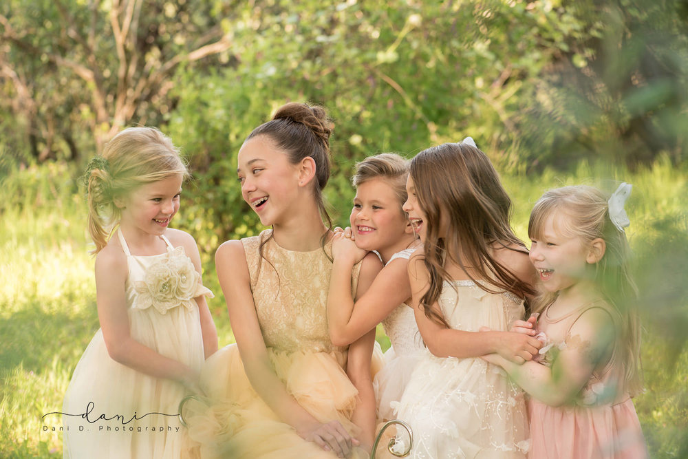 A group of girls laughing - Northern California child and family photographer