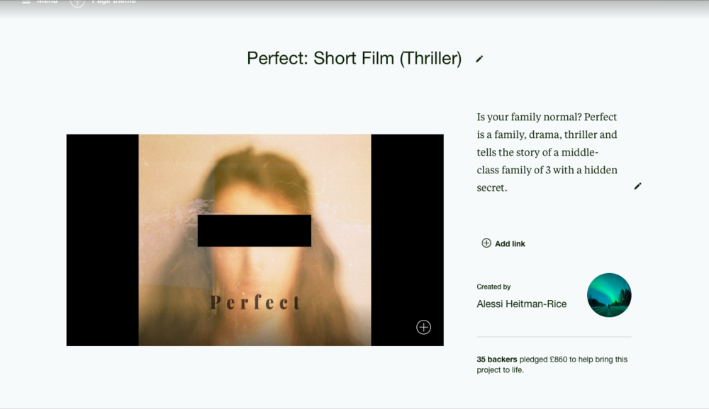 Old Kickstarter campaign for  Perfect