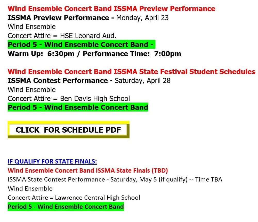 Wind Ensemble Concert Band Issma Information Preview Concert