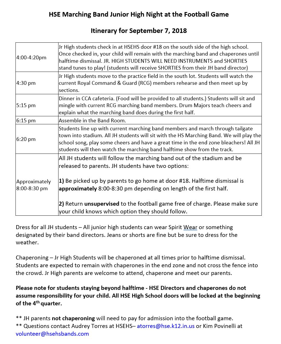 CLICK Here for Junior High Permission Slip