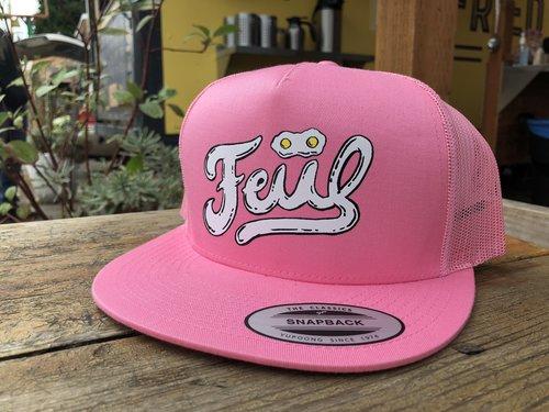 FEIIL Pink Double Egg Trucker Hat 43a893febb4d