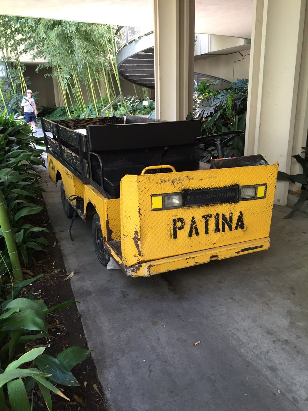 Delivery vehicle for Patina Restaurant at L.A. County Museum of Art