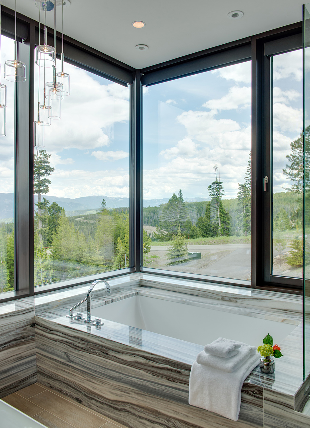 This bathroom is not for the shy:) Talk about a view!