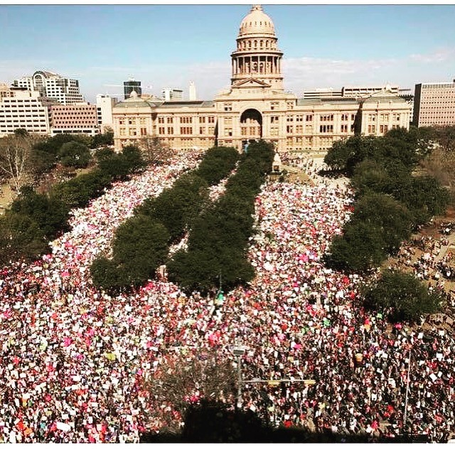 March On Austin, Texas State Capitol. Saturday, January 21 Photo credit: Mike Holp of Holp Photography.
