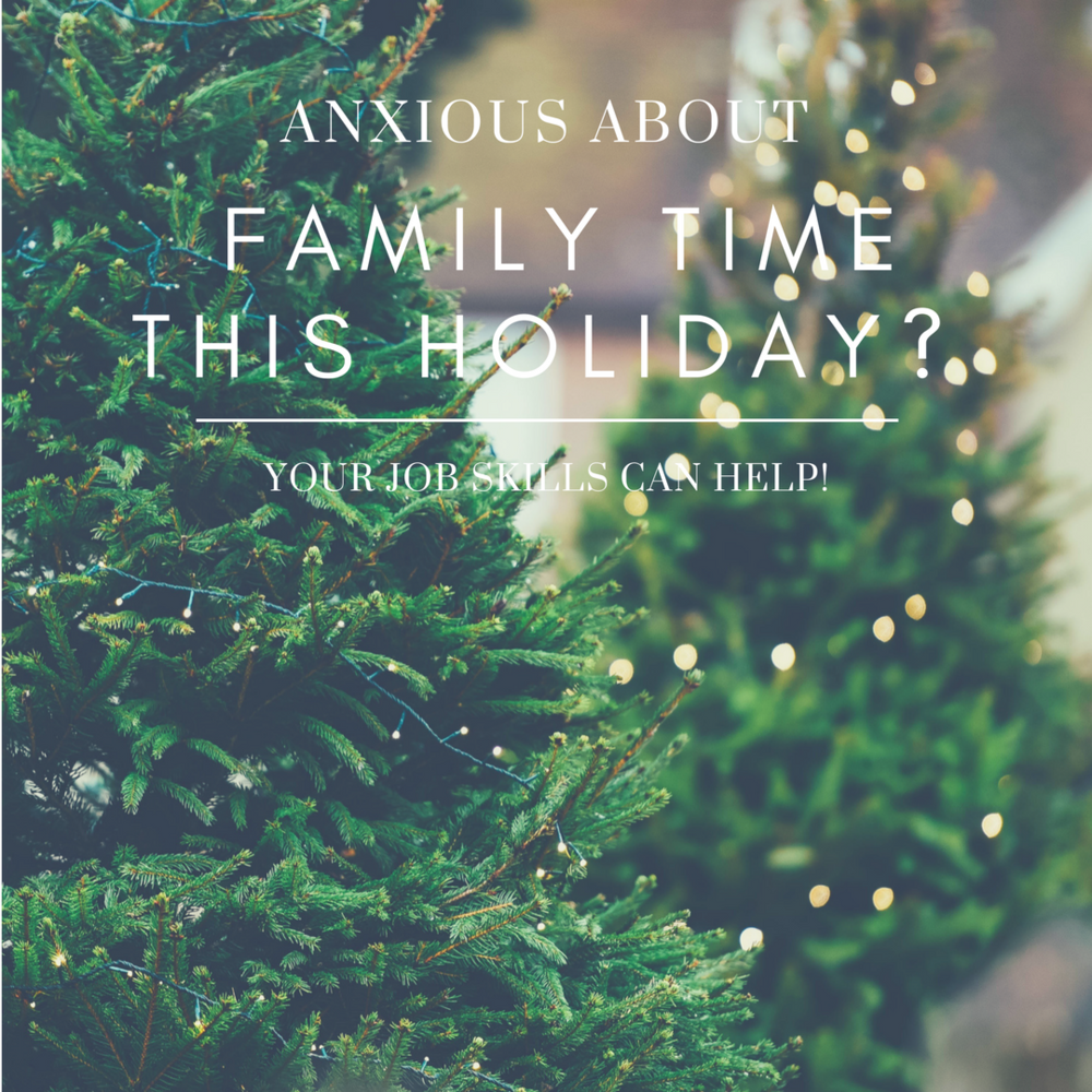 Returning home for the holidays can be stressful for millennials. Use your job skills to have a different perspective of family dynamics and build relationships.