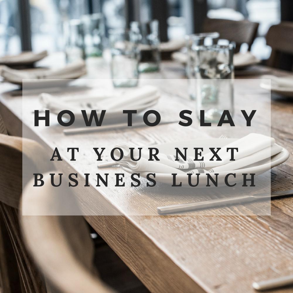 Don't let a few etiquette faux pas and missteps derail your business lunch meeting.