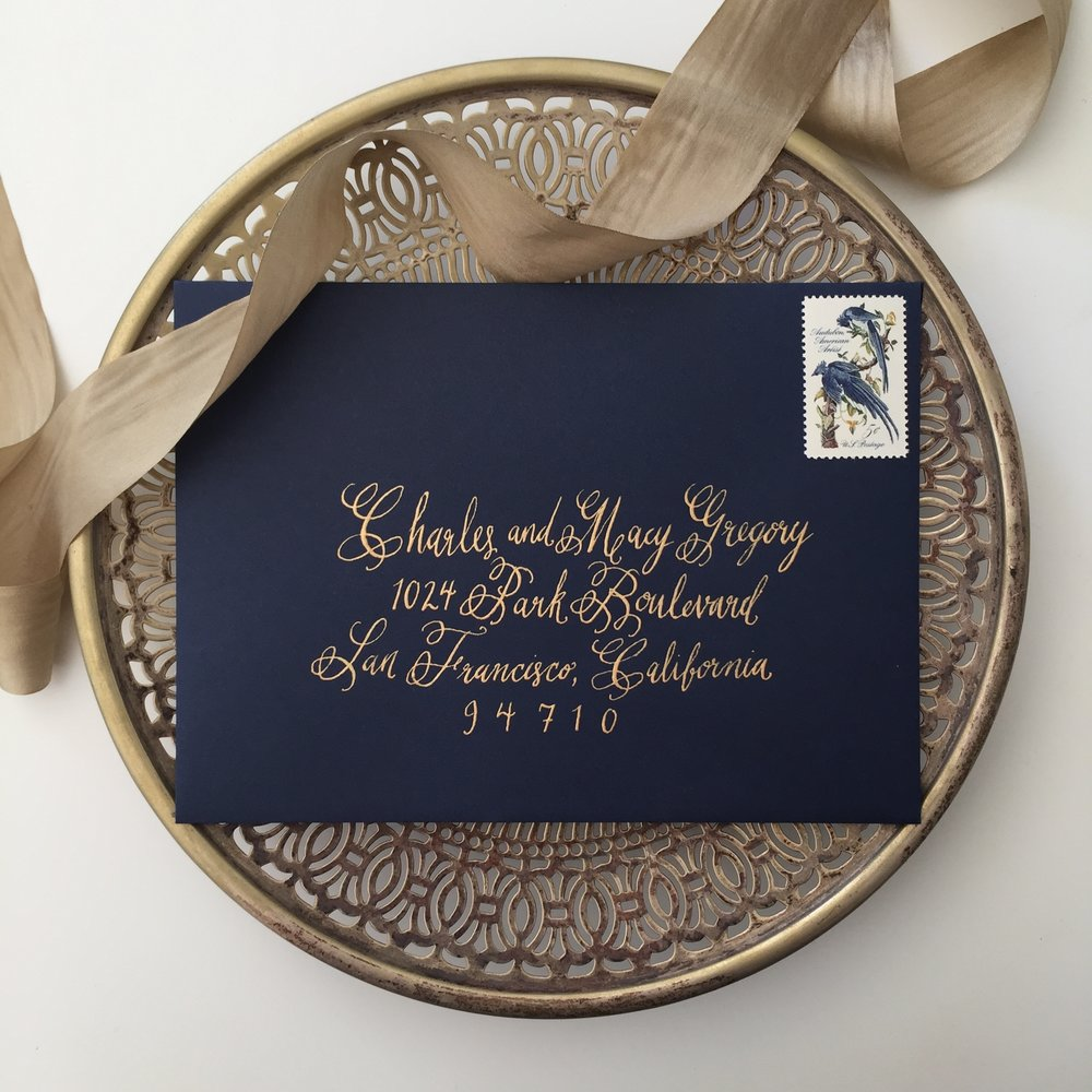Envelope Calligraphy by Bowerbird Atelier