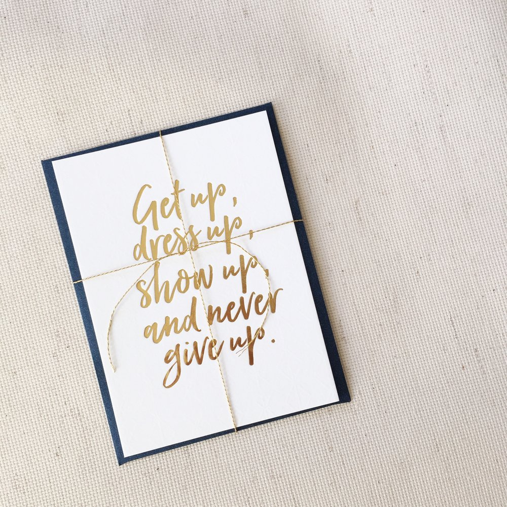 Gold Foil Quote Card by Bowerbird Atelier