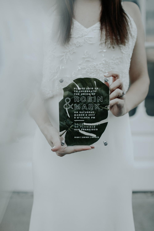 Acrylic Invitation by Bowerbird Atelier | Photo by Rachel Wakefield