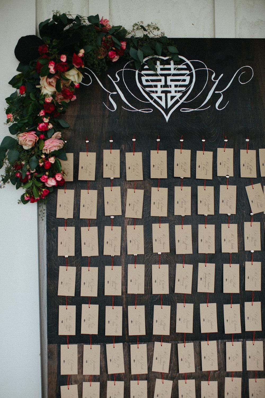 Escort Board by Bowerbird Atelier