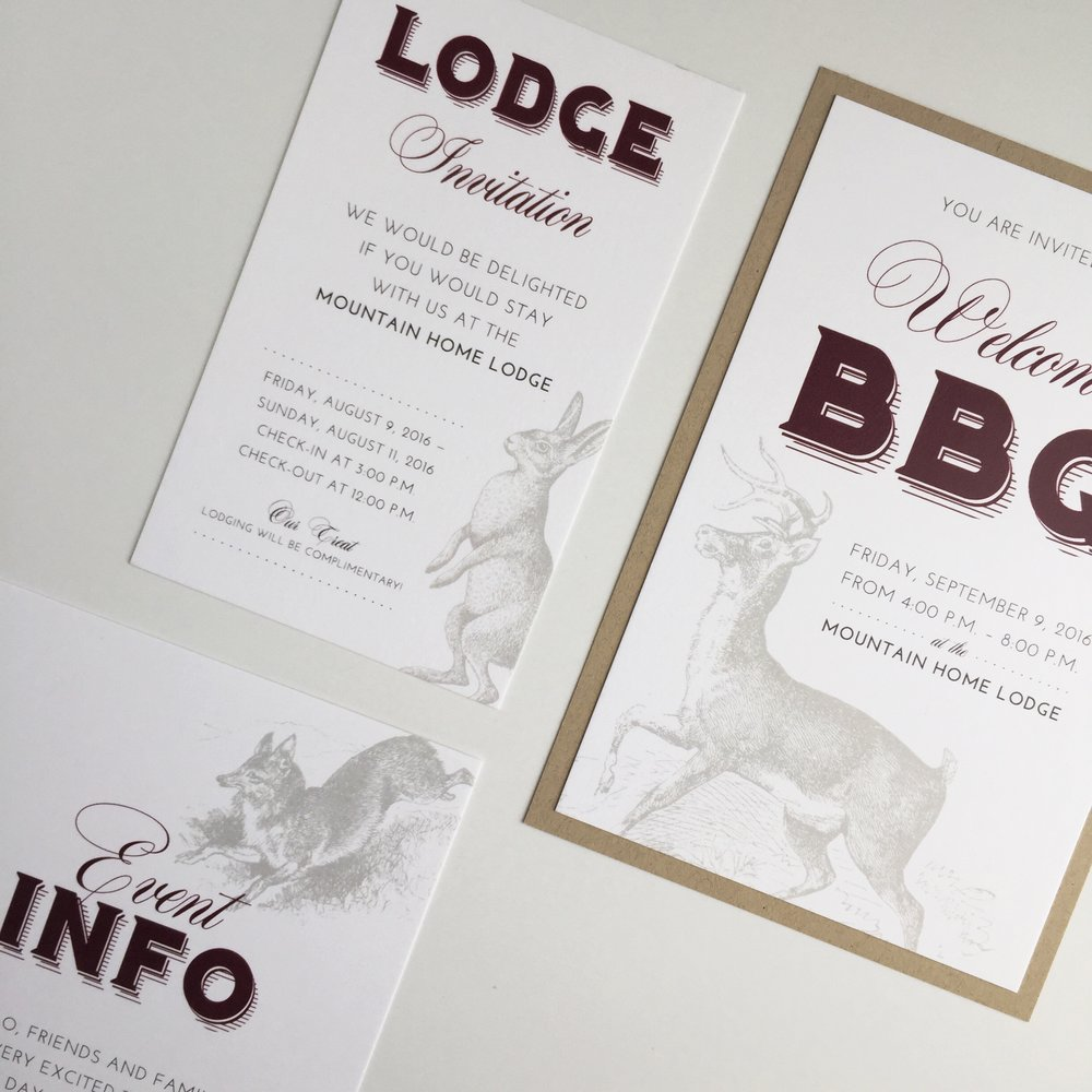 Rustic Extra Info Cards by Bowerbird Atelier