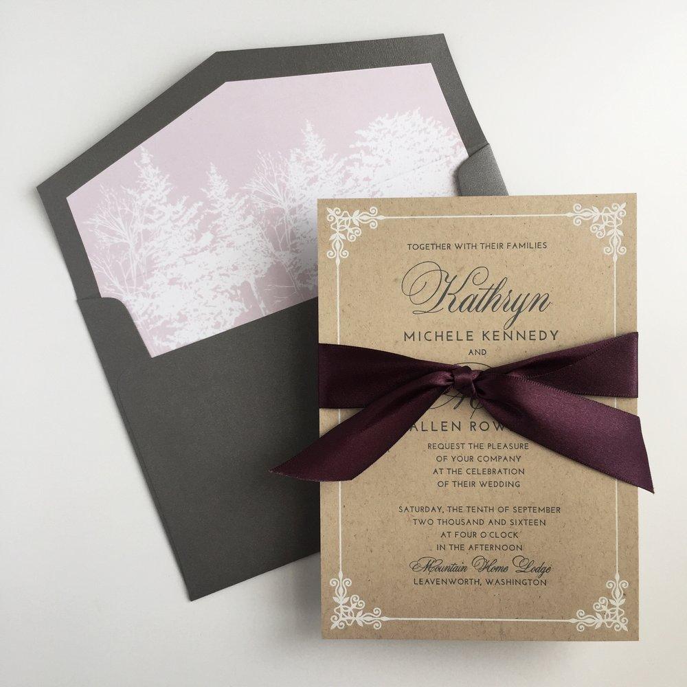 Winter Invitation by Bowerbird Atelier
