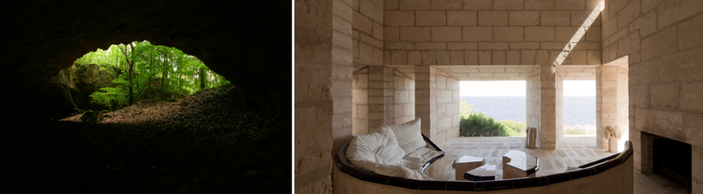 Prospect and Refuge: Szachownica Cave in Poland/ Can Feliz by Jørn Utzon