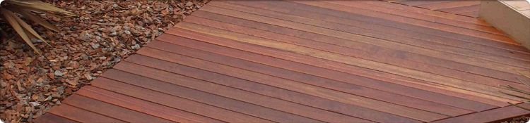 Red Ironbark Decking Example