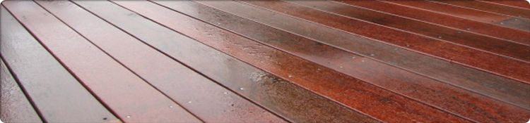 Jarrah Decking Example (wet)