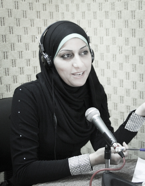 Asma Kassab, presenter and producer for Youth Palestine Radio.