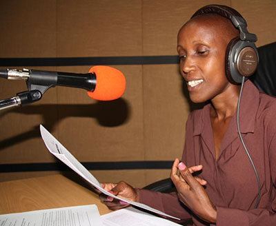 Wangari Migwi, presenter and journalist at Coro FM.
