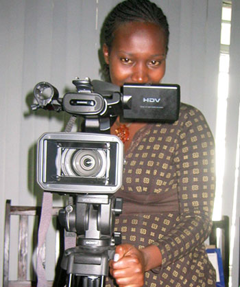 Sylvia Chebet, Reporter for Citizen TV in Kenya.