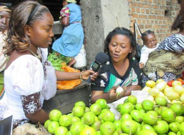 Women's representation in the media in the Democratic Republic of the Congo is limited.  (credit: Internews)