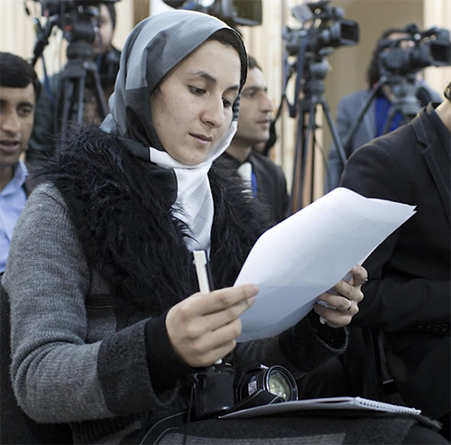 Wahida Faizi won an award for her elections coverage during the 2014 Afghanistan elections.