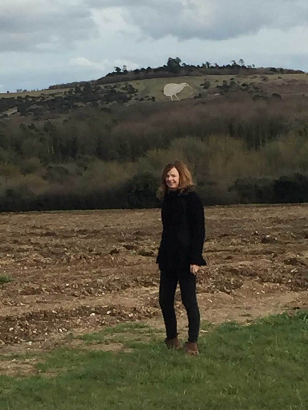 Arriving in Salisbury for my residency on the Salisbury Plain (background Bulford Kiwi, carved into the land by the NZ troops waiting to return home after WW1)