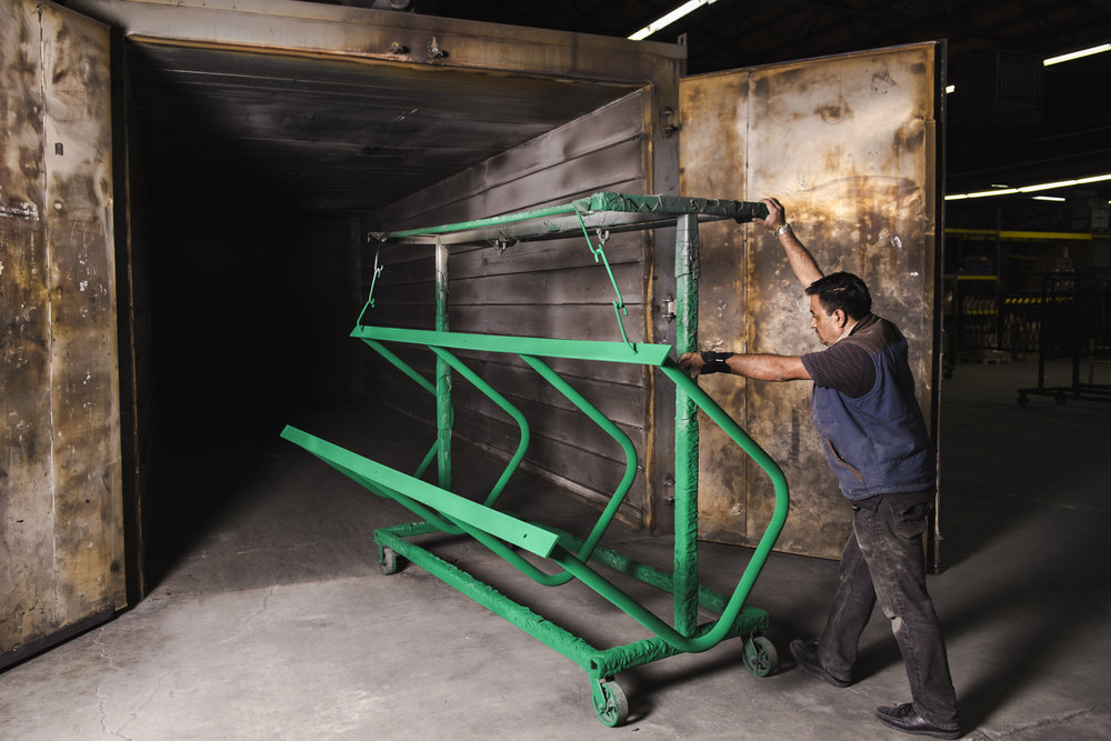bike-rack-powder-coating-rack-oven