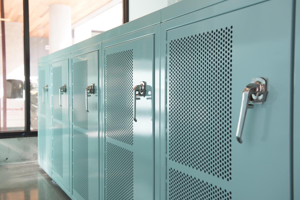 bike lockers bike locker specs huntco site furnishings