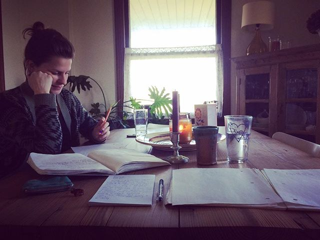 Back at it. #songwriting #farmhousestyle