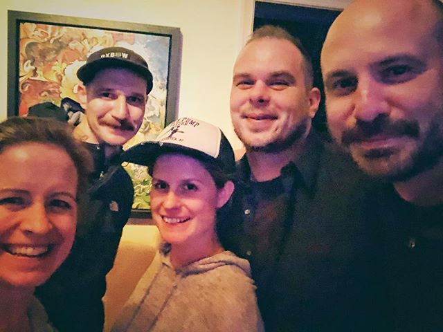 The whole band got together last night for a rehearsal for the first time in over 2 years!! Why? We'll tell you soon! #thehellostrangers #americanamusic #likeridingabike